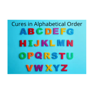 Cures in Alphabetical Order
